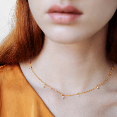 Gold Ellie Pearl Necklace