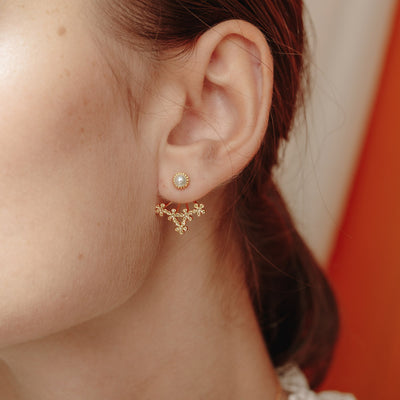Gold Marlina Pearl Ear Jacket