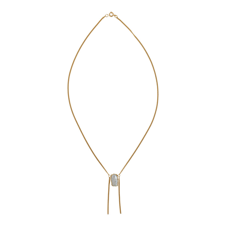 Gold Pearl Gatsby Necklace