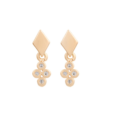 Gold Piccola Diamond Studs