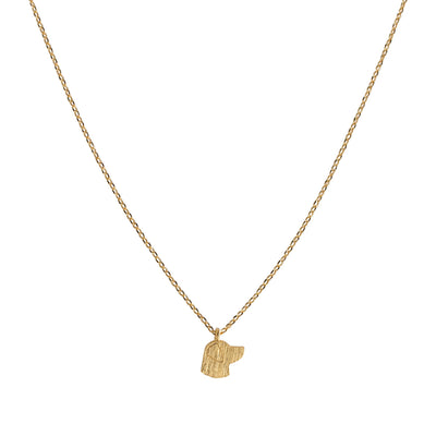 Gold Pooch Necklace