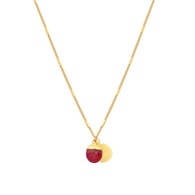 Gold Delphine Ruby Necklace