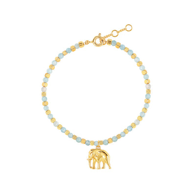Gold Sanctuary Aquamarine Bracelet
