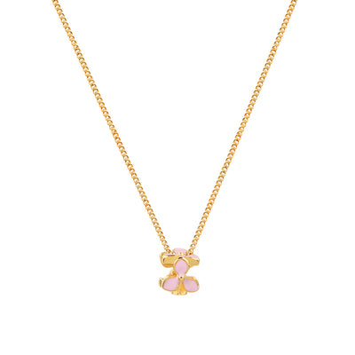 Gold Trillium Flower Necklace