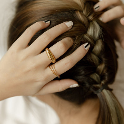 Gold Twisted Rope Ring