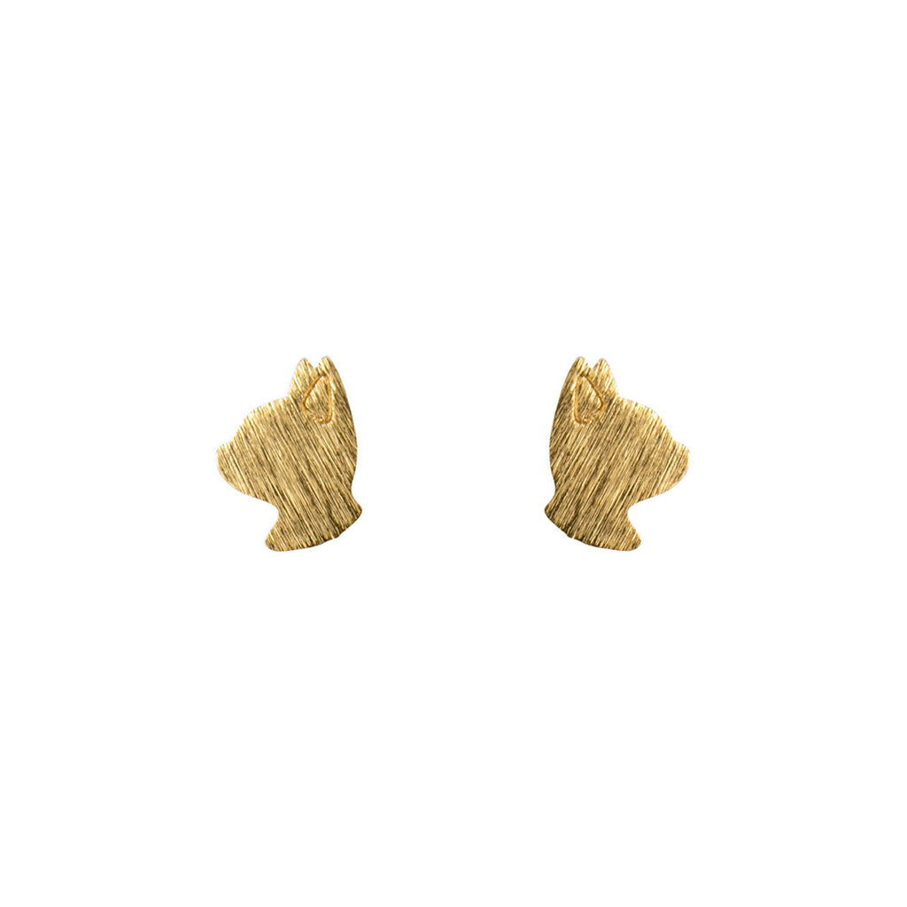 Gold Whiskers Ear Studs