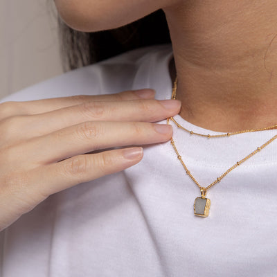 Gold Zoe Moonstone Necklace