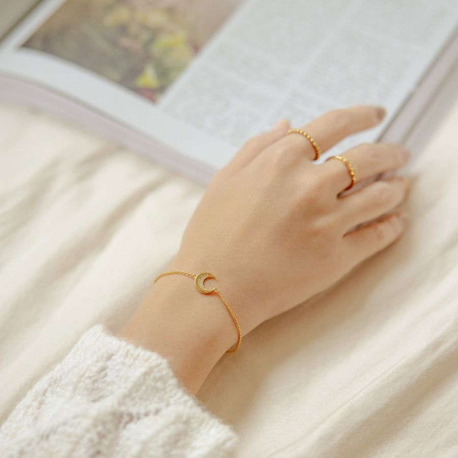 Gold Cosmic Crescent Bracelet