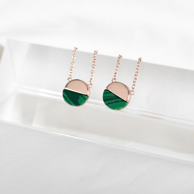 Rose Gold Malachite Necklace