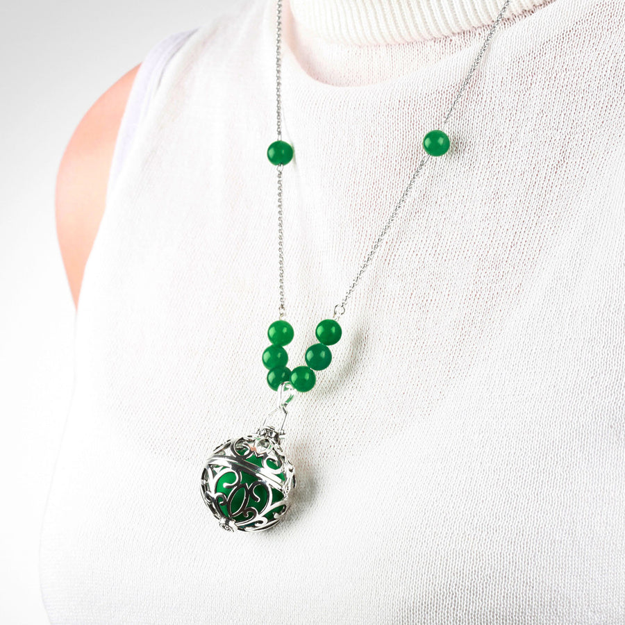 Yu Ahn Jade Cluster Necklace