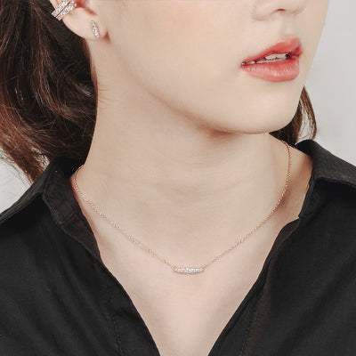 Rose Gold Laura Cubic Necklace