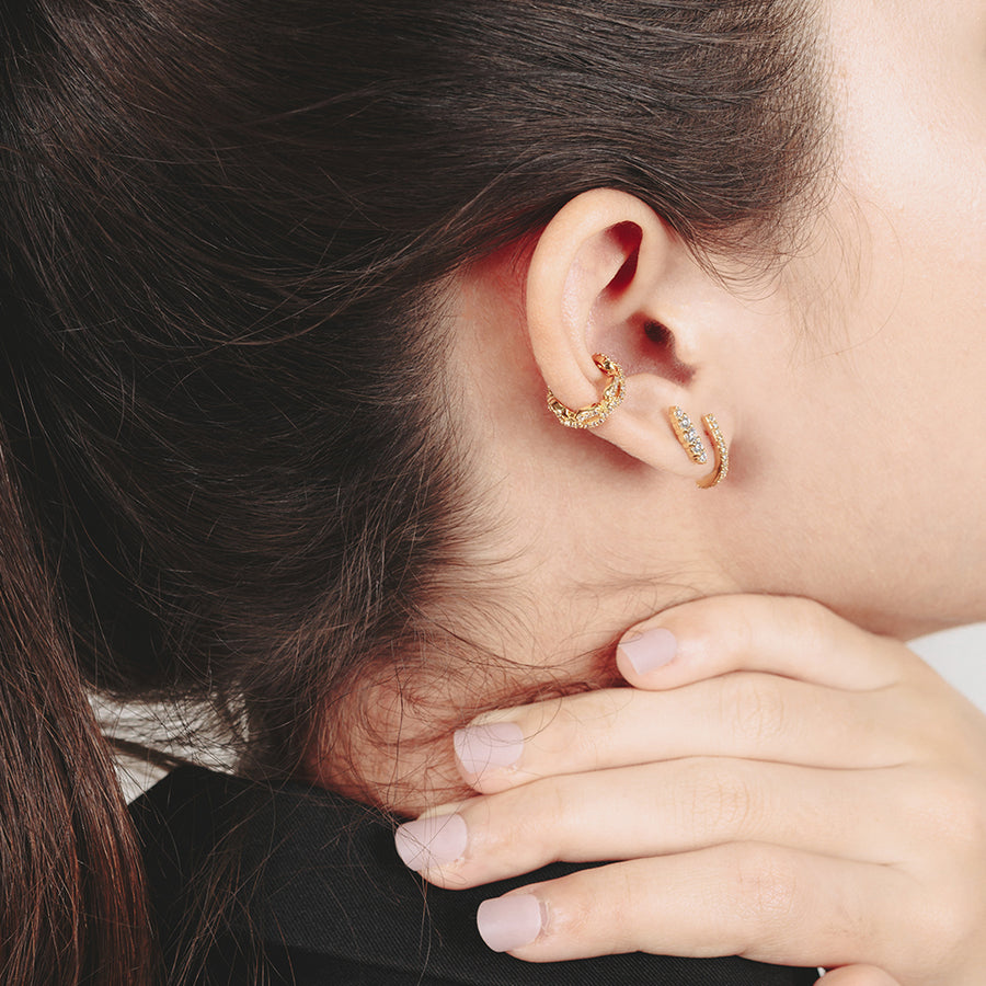 Gold Laura Cubic Studs