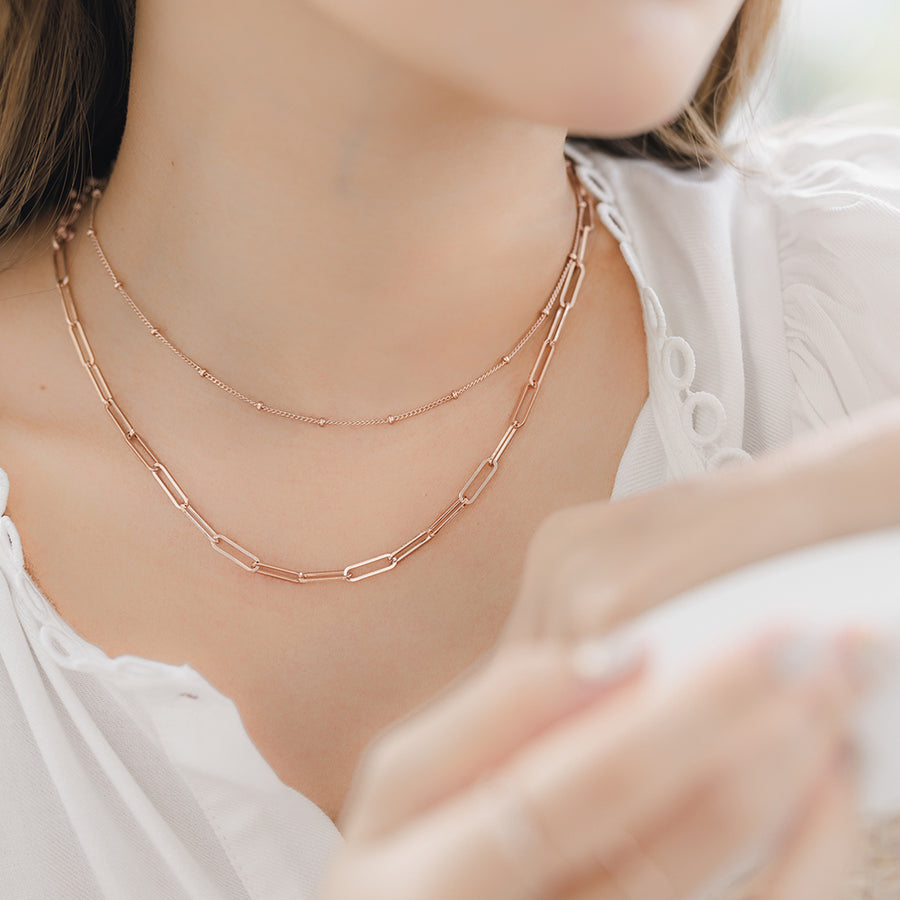 Rose Gold Vermeil Link Necklace