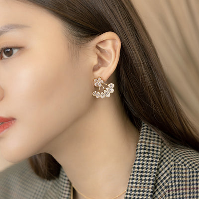 Gold Luxe Cubic Ear Jackets