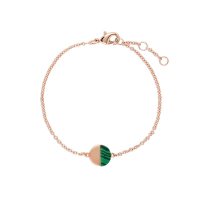 Rose Gold Malachite Bracelet