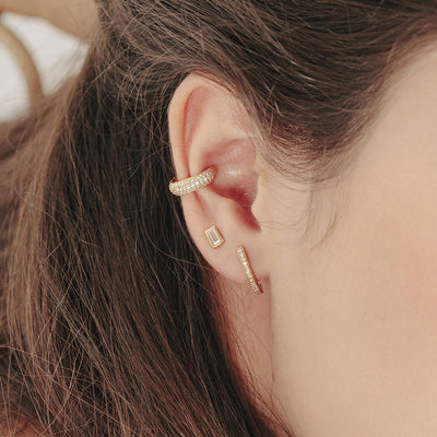 Gold Pave Cubic Ear Cuff