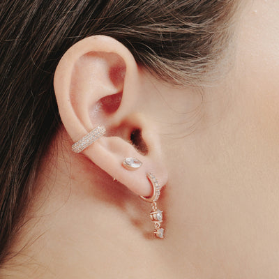Rose Gold Pave Cubic Ear Cuff
