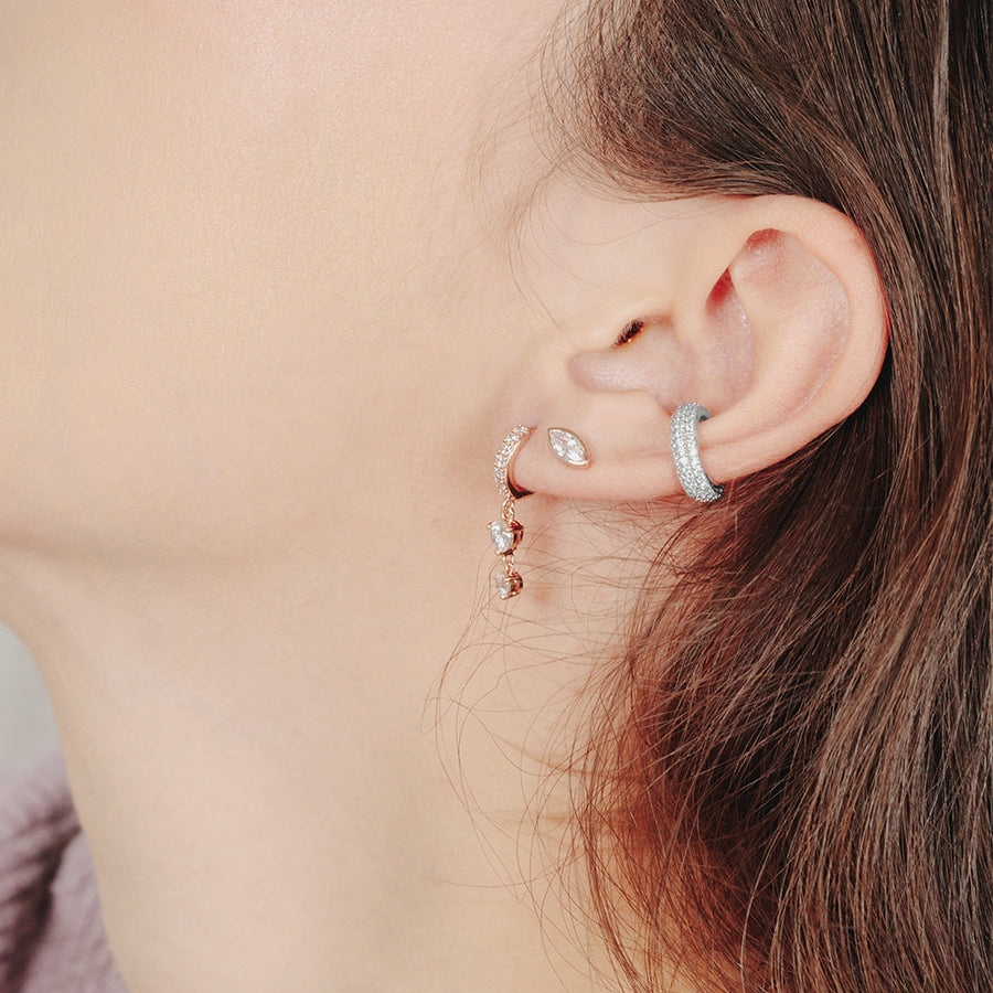 925 Silver Pave Cubic Ear Cuff