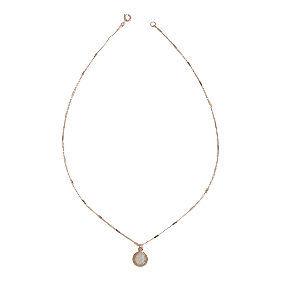 Rose Gold Amie Moonstone Necklace