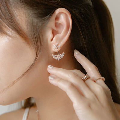 Rose Gold Aurelia Cubic Ear Jackets
