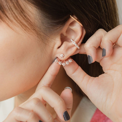 Rose Gold Callie Cubic Ear Jackets