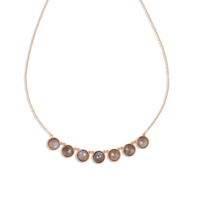 Rose Gold Callisto Labradorite Necklace