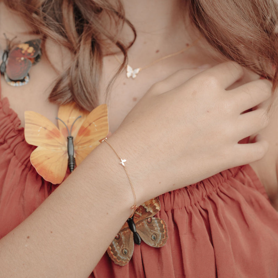 Rose Gold Chrys Butterfly Bracelet