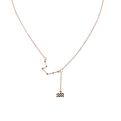 Rose Gold Zodiac Constellation Necklace