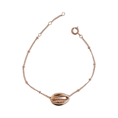 Rose Gold Cowrie Shell Bracelet