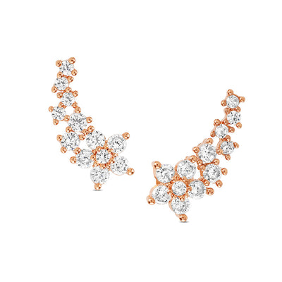 Rose Gold Cecile Cubic Earrings