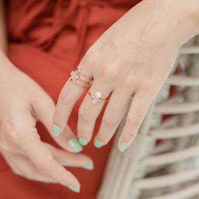 Rose Gold Jenna Moonstone Ring