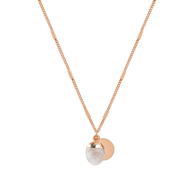 Rose Gold Delphine Moonstone Necklace