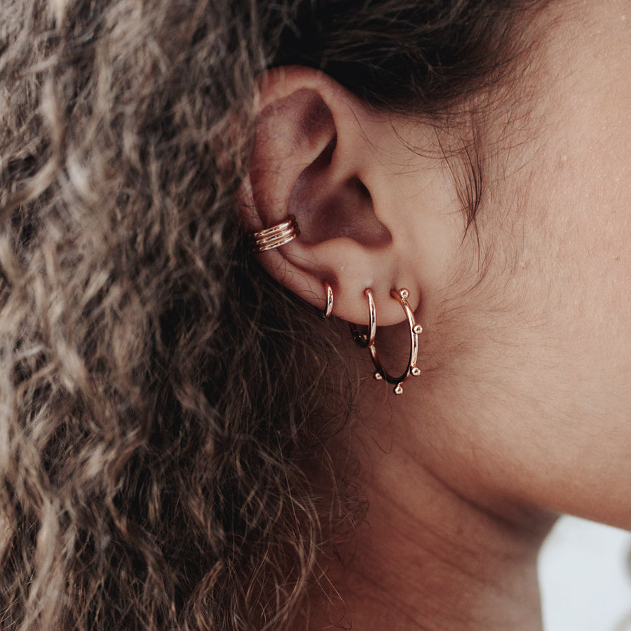 Rose Gold Ally Hoop Earrings