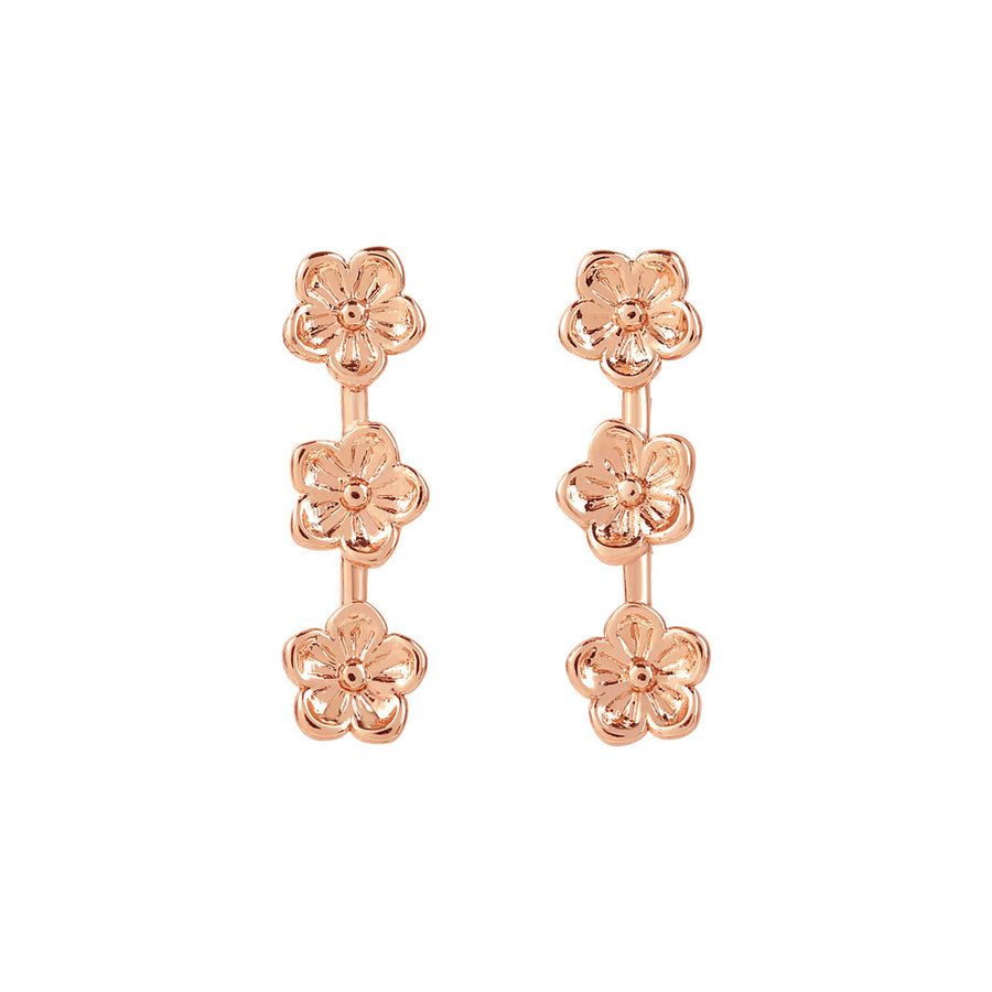 Rose Gold Flores Studs