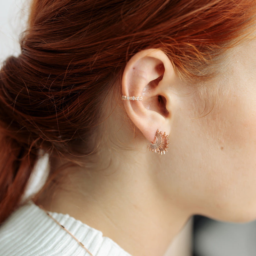 Rose Gold Noelle Studs