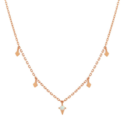 Rose Gold Odessa Opal Necklace