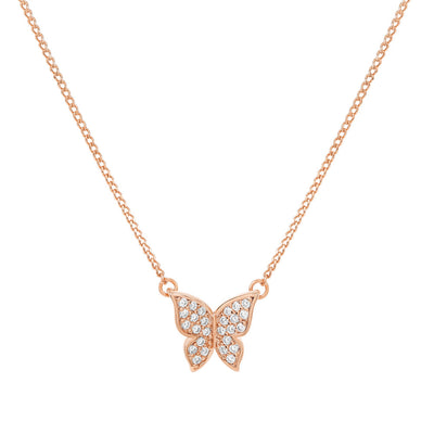 Rose Gold Butterfly Cubic Necklace