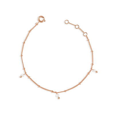 Rose Gold Ellie Pearl Bracelet