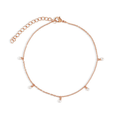 Rose Gold Perla Anklet