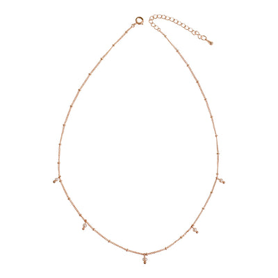 Rose Gold Ellie Pearl Necklace