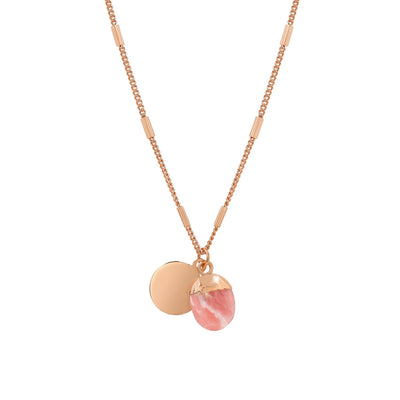 Rose Gold Delphine Rhodochrosite Necklace