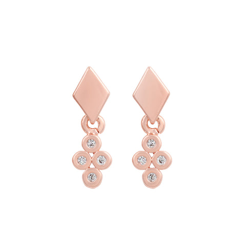 Rose Gold Piccola Diamond Studs