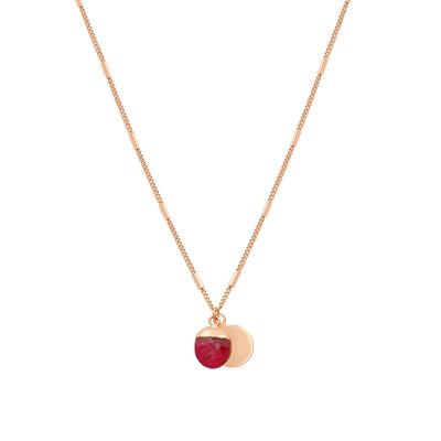 Rose Gold Delphine Ruby Necklace