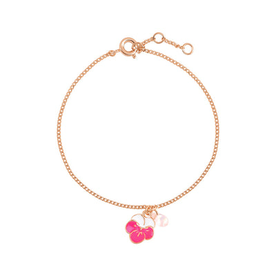 Rose Gold Cherry Blossom Bracelet