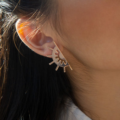 Rose Gold Soleil Earrings