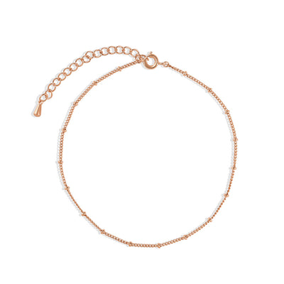 Rose Gold Spacer Anklet