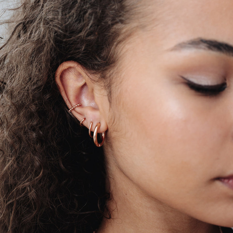 Rose Gold Spacer Ear Cuff