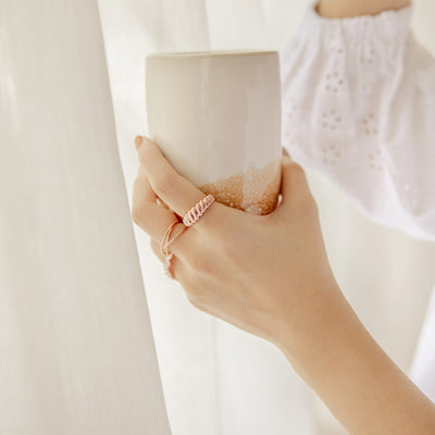 Rose Gold Twisted Rope Ring