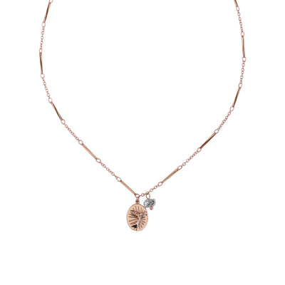 Rose Gold Beluga Whale Necklace