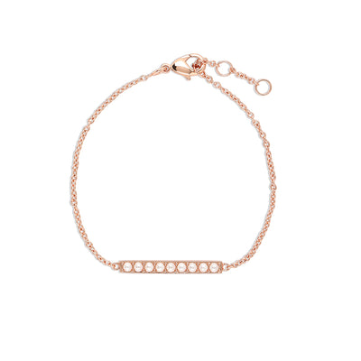 Rose Gold Alice Pearl Bar Bracelet